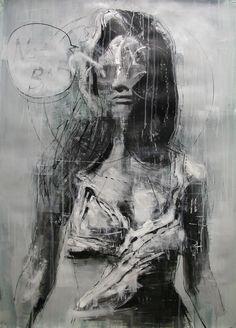 "asylum-art: Kim Byungkwan on Behance ""My work is trying to. Art Paintings For Sale, Portrait Paintings, Portrait Art, Birdman, Elements Of Art, Horror Art, Contemporary Paintings, Dark Art, Painting Inspiration"