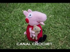 Peppa Pig y su osito amigurumi tutorial. - YouTube Peppa Pig Amigurumi, Amigurumi Toys, Amigurumi Patterns, Crochet Patterns, Crochet Ideas, Crochet Teddy, Crochet Dolls, Amigurumi Tutorial, Cartoon Tv