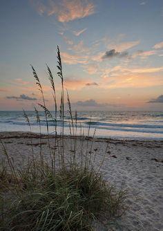 ✮ A beautiful sunrise at Melbourne Beach, Florida