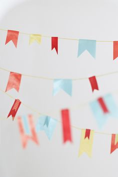 How to Make Ribbon Bunting | TikkiDo.com