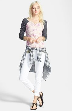 Free shipping and returns on Stem Henley Top, Paige Denim Plaid Shirt and Treasure&Bond Skinny Jeans at Nordstrom.com.