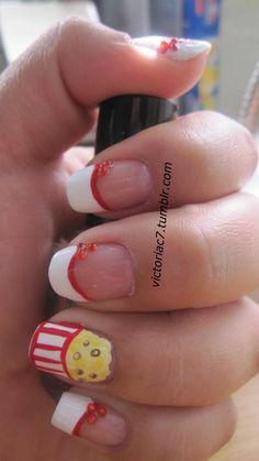 popcorn nails...cute!