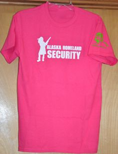 Are you a Tough lady? Show off you tough side with this Alaska Homeland Security T-shirt. Order one now at Shop.willowbilliesoalaska.com #alaska #fishing #hunting #greatoutdoors #alaskan #willowbillies Gildan® Ultra Cotton 50% Cotton/50% Polyester Unisex sizes, Preshrunk Designed and Printed in Alaska Mens sizing is true to actual size Women should order a size smaller