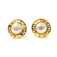 59a3c0956eca Vintage Chanel Pearl Earrings. What a coincidence these are perfect for  everything I own!