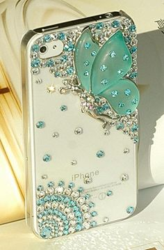 The butterfly angel case 3D iphone 4 case iphone 4s case. $24.00, via Etsy.