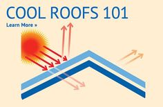Cool Roofs Rating Council - use materials or colors that help reflect heat to reduce energy costs  - so smart why hasn't this been addressed before?!