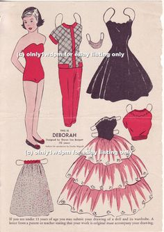1955 Deborah of Wee Wisdom from Ebay * 1500 free paper dolls Christmas gifts artist Arielle Gabriels The International Paper Doll Society also free paper dolls The China Adventures of Arielle Gabriel *