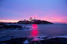 """Beautiful.... Cape Neddick (""""Nubble"""") Lighthouse, York Beach, Maine, U.S.A."""
