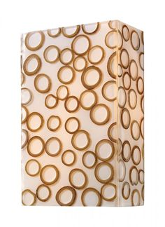 """Modern Organics-2-light Sconce In Bamboo Ring : 5ZXW 