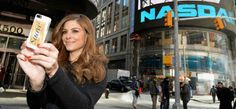 Maria Menounos captures a glam moment in NYC's Times Square while announcing her partnership with Suave Professionals and GLAM4GOOD.