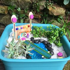 You might be wondering what a fairy garden would look like if it was actually made by kids. The answer? Adorable, of course! Swipe to see the gardens my girls made. What do they look like a year later? Well, I won't share a photo of that! Craft Activities For Kids, Crafts For Kids, Craft Ideas, Fairy Crafts, Small World, Craft Stick Crafts, Creative Kids, Get Outside, Projects To Try