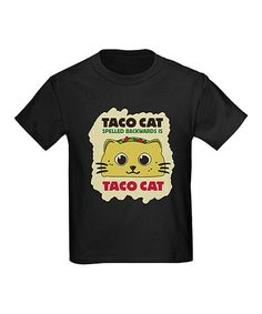 This Black 'Taco Cat' Tee - Toddler & Kids is perfect! #zulilyfinds