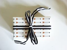 Gift Wrap Falling Arrows Print Wrapping by KateZarembaCompany, $22.00
