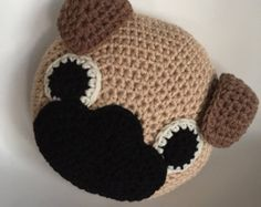 Pug Pillow Crochet Pug Pattern Pug Lover by NeedleMeThatCrochet
