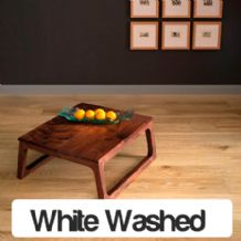 Tuscan Oak White Washed Lacquered 1-Strip Engineered Wood Flooring