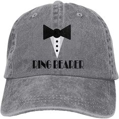4e9a38478ac78 LANBRELLA Women s and Men s Ring Bearer Ringbearer Wedding Party Unisex  Cowboy Baseball Cap Hats Gray at