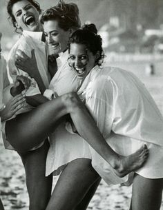 Supermodels-by Peter Lindbergh There was a time when I worked with these women..my younger sister Gia did as well. I left to continue  studying ART and then onto Culinary School...The life was not for me. IT WAS ONE THE THE MOST FUN TIMES OF OUR LIVES..for a while