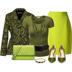 green by stiliszta on Polyvore featuring J.TOMSON, Jil Sander, Christian Lacroix, Gianvito Rossi, MICHAEL Michael Kors and Linea Pelle