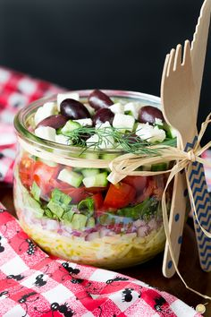 Make yourself a Greek Orzo Summer Salad with fresh produce.  Makes a great side dish for picnics