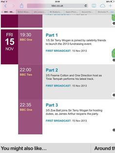 The boys are set to co-host Children In Need on Nov 15th