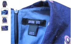 Label in a counterfeit copy of an actual Anna Sui design