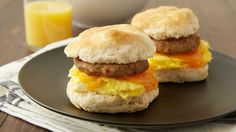 Making your favorite fast-food breakfast sandwich has never been easier! Bake frozen biscuits while you prepare the eggs and sausage, and in less than 30 minutes, you'll have a breakfast that's better than the drive-thru.
