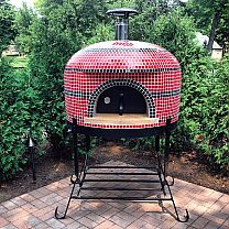 outdoor pizza oven is a hand tiled pizza oven, fully assembled, ready to cook 1 - pizza in 90 seconds, authentic Italian style center vent. Pizza Oven Outdoor, Outdoor Cooking, Outdoor Entertaining, Pizza Oven For Sale, Pergola Images, Stainless Steel Stove, Oven Design, Old Wood Texture, Grill Oven