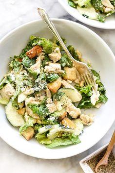 Chicken Caesar Salad | foodiecrush.com