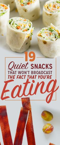 19 Quiet Snacks That Won't Broadcast The Fact That You're Eating - http://diymomhacks.com/19-quiet-snacks-that-wont-broadcast-the-fact-that-youre-eating/