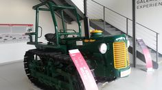 Early Zetor tracked tractor at the Zetor Gallery outside Brno.