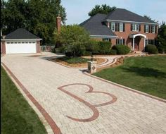 Unilock - Driveway and Walkway Entrance with Brussels Block paver