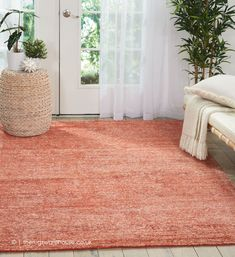 NEW: Weston Brick Rug, a contemporary hand-tufted bamboo silk & jute rug in shades of terracotta and ivory (5 sizes) https://www.therugswarehouse.co.uk/modern-rugs3/weston-rugs/weston-brick-rug.html