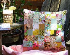 Quilt pillow cover.