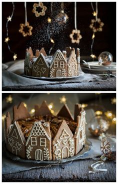 Gingerbread houses recipes and designs - Craftionary - Christmas cake decorations. Faster and easier with speculoos. -Perfect Gingerbread houses recipes and designs - Craftionary - Christmas cake decorations. Faster and easier with speculoos. Christmas Gingerbread House, Christmas Sweets, Christmas Cooking, Noel Christmas, Christmas Goodies, Christmas Decorations, Gingerbread Houses, Cake Decorations, Christmas Recipes