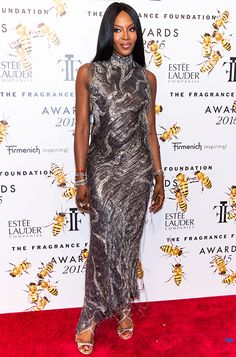 7f15a381ab3c Naomi Campbell wearing the Jimmy Choo LANCE sandal Naomi Campbell