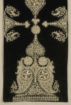 Ottoman Embroidered Panel Turkey. Late 19th century.
