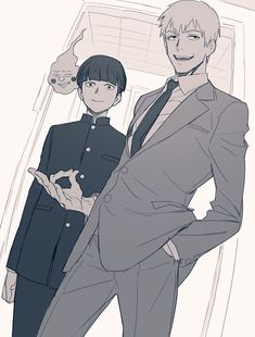 I read that hand motion means 'in the ass' idk if that's true but if it is Reigen would totally make the mistake