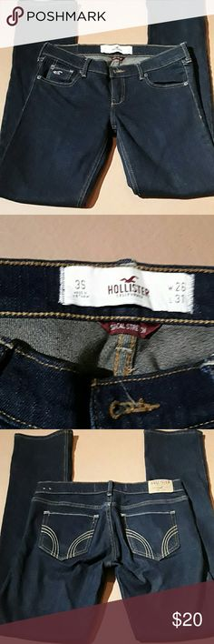 "SOCAL stretch Hollister skinny leg jeans SOCAL stretch Hollister skinny leg low rise jeans, size 3S, waist 29"", inseam 29"" Hollister Jeans Skinny"