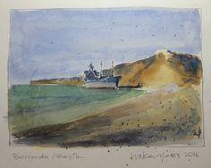 #watercolor #akvarel #aquarelle #escodabrushes #seascape #landscape #tenedos #bozcaada #beylik by hakanyeles