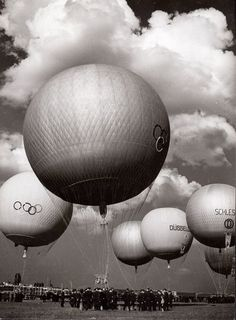 The Great Balloon Show on the Occasion of the Olympic Games, Tempelhof Airport, Berlin, 1936 by Alex Stöcker