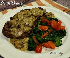 This Steak Diane is a speedy version of the classic dish that was the rage in the 50's and early 60's. The meat is grilled and the sauce is made separately.