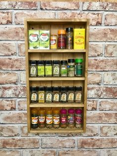 Spice rack, reclaimed wood, pallet wood, cooks gift, chefs gift, rustic, mother's day gift by Rusticretrofurniture on Etsy https://www.etsy.com/uk/listing/462101816/spice-rack-reclaimed-wood-pallet-wood