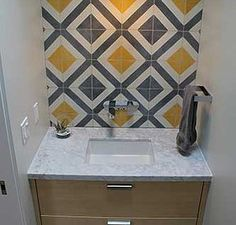 Amethyst Artisan | Corner Diamond Cement Tile