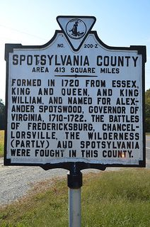 """Spotsylvania County, Virginia.  Two generations of Crawfords lived and died here; others moved on to Madison Co. and """"Kentucky Co."""" Va."""