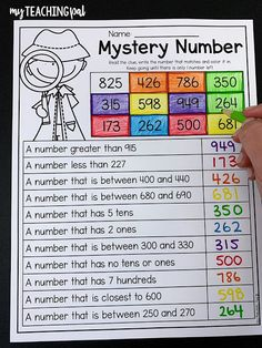 Second Grade Numbers and Place Value Math Resources, Math Activities, Math Strategies, 2nd Grade Classroom, Math Classroom, Math Lesson Plans, Math Lessons, 2nd Grade Math Worksheets, Grade 2 Math Games