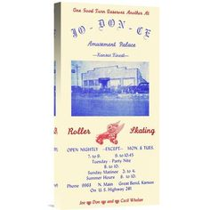Global Gallery 'Jo-Don-Ce Amusement Palace Roller Skating' by RetroRollers Vintage Advertisement on Wrapped Canvas