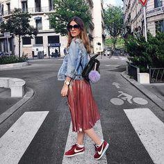 Lucinda en Nike Cortez.