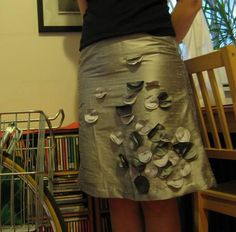 Silver petals skirt - CLOTHING