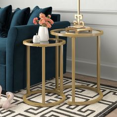 6bb022bf6f0a8 Silver Orchid Grant Glam Nesting Side Table 2pc Set - Gold | Makeover  Master Bedroom | Gold nesting tables, Table, Living room furniture sale