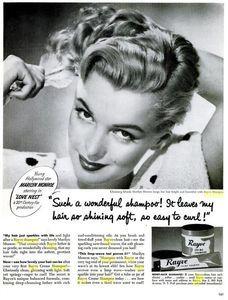 Marilyn shampoo ad